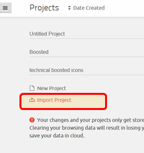 import project link